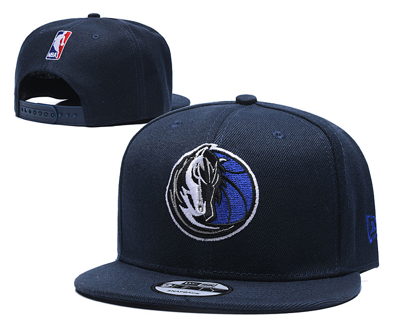 Mavericks Team Logo Navy Adjustable Hat TX