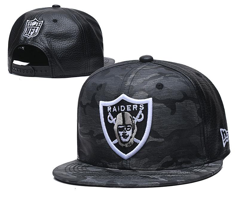 Raiders Team Logo Black Gray Adjustable Hat TX
