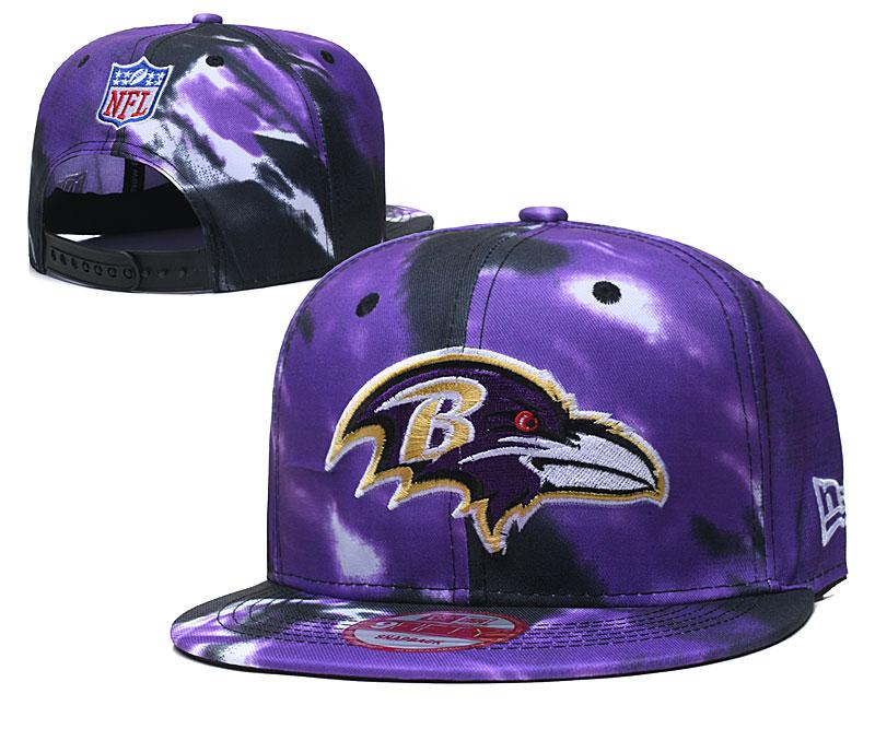 Ravens Team Logo Purple Adjustable Hat TX