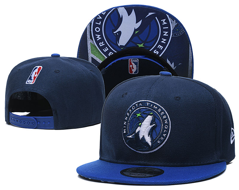 Timberwolves Team Logo Navy Adjustable Hat TX