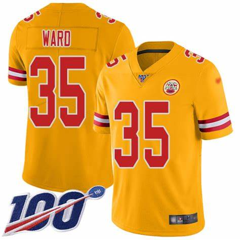 Nike Chiefs 35 Charvarius Ward Yellow 100th Season Vapor Untouchable Limited Jersey