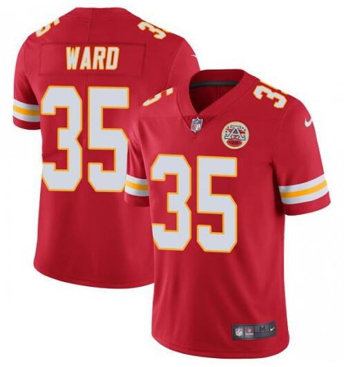 Nike Chiefs 35 Charvarius Ward Red Vapor Untouchable Limited Jersey