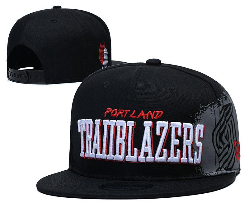 Blazers Team Logo Black Adjustable Hat YD