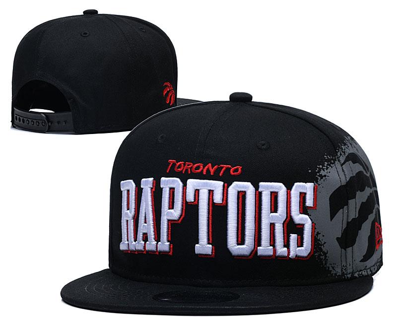 Raptors Team Logo Black Adjustable Hat YD
