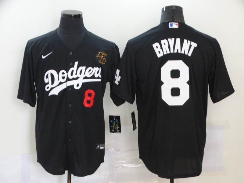 Dodgers 8 Kobe Bryant Black 2020 Nike KB Cool Base Jersey