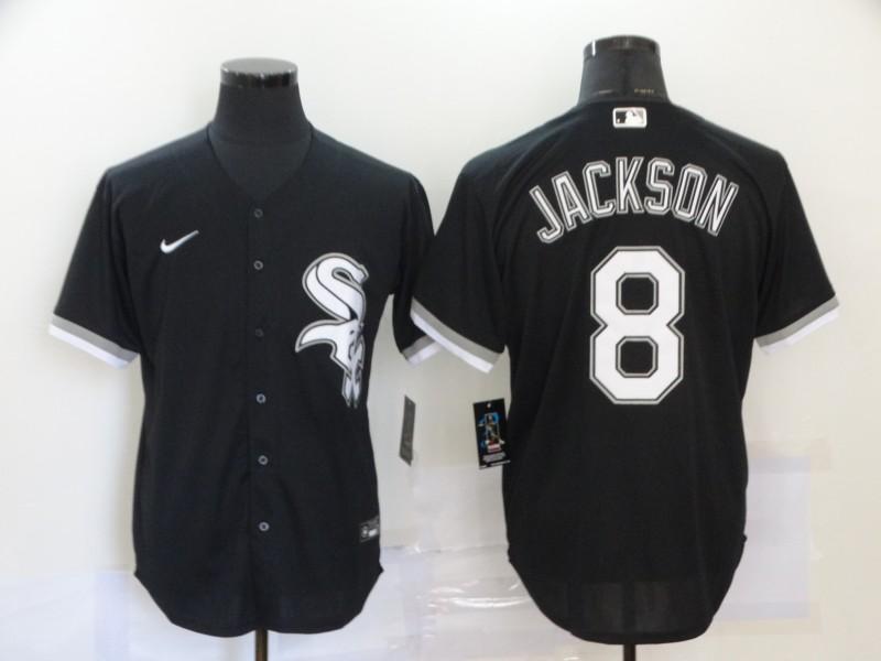 White Sox 8 Bo Jackson Black 2020 Nike Cool Base Jersey