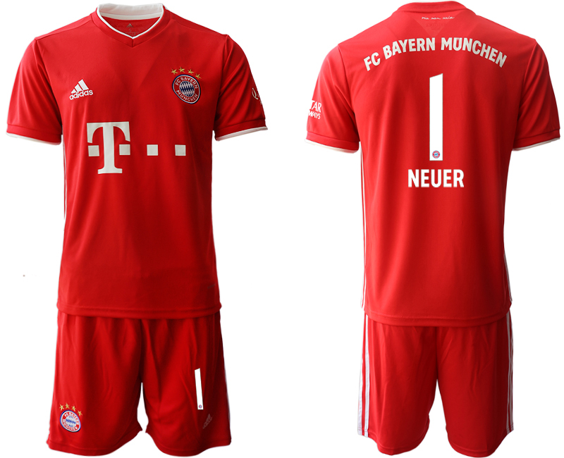 2020-21 Bayern Munich 1 NEUER Home Soccer Jersey