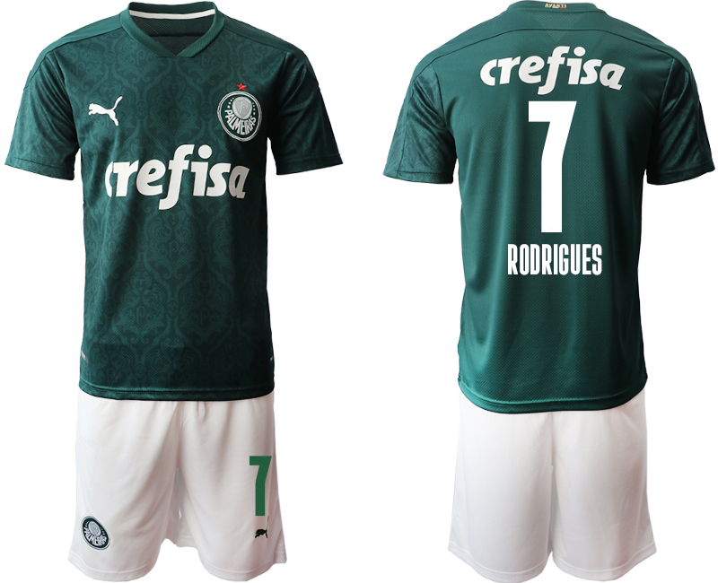 2020-21 Palmeiras 7 RODRIGUES Home Soccer Jersey