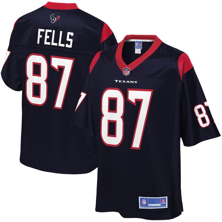 Texans 87 Darren Fells Navy Pro Line Primary Player Jersey