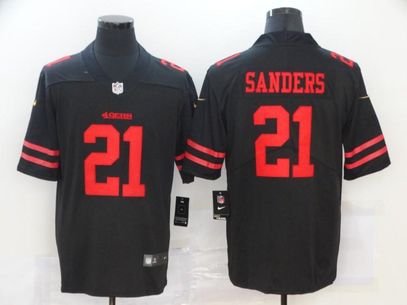 Nike 49ers 21 Deion Sanders Black Vapor Untouchable Limited Jersey