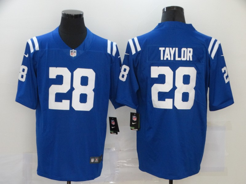 Nike Colts 18 Jonathan Taylor Blue Vapor Untouchable Limited Jersey