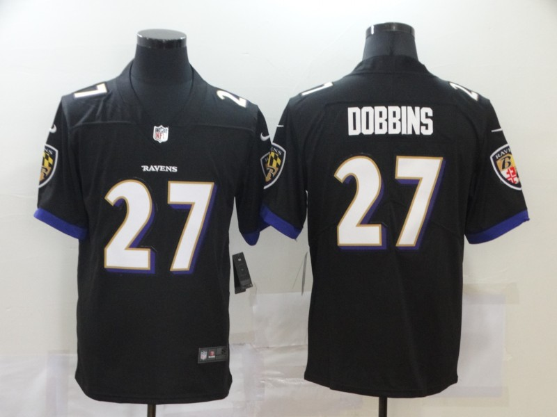 Nike Ravens 27 J.K. Dobbins Black Vapor Untouchable Limited Jersey