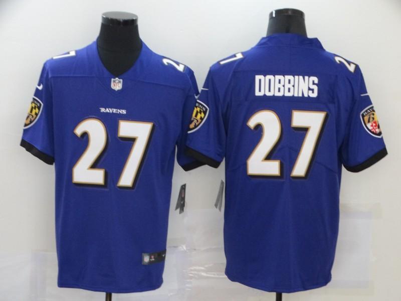 Nike Ravens 27 J.K. Dobbins Purple Vapor Untouchable Limited Jersey