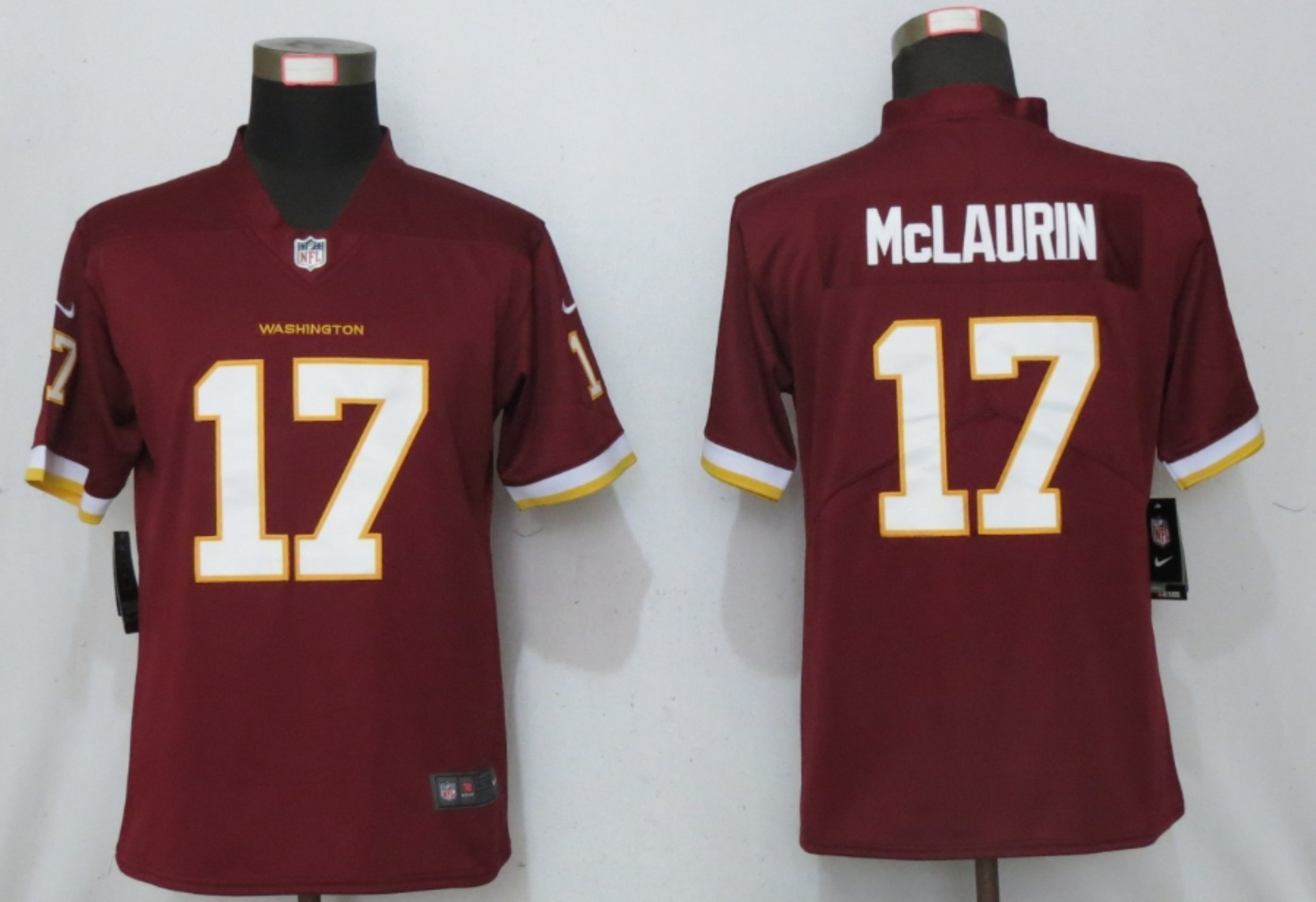 Nike Washington Football Team 17 Terry McLaurin Red Women Vapor Untouchable Limited Jersey