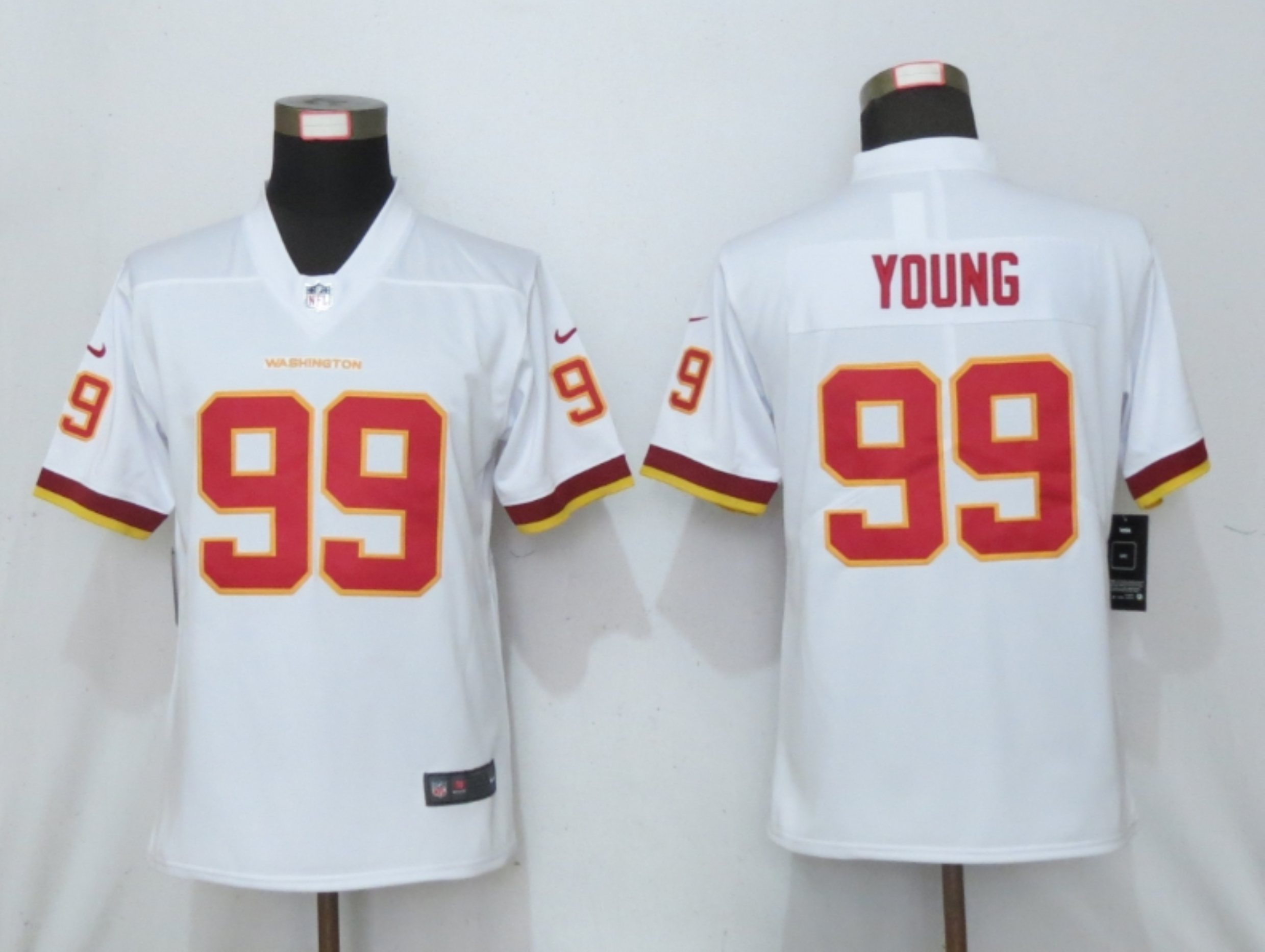 Nike Washington Football Team 99 Chase Young White Women Vapor Untouchable Limited Jersey