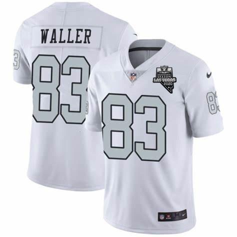 Nike Raiders 83 Darren Waller White 2020 Inaugural Season Vapor Untouchable Limited Jersey