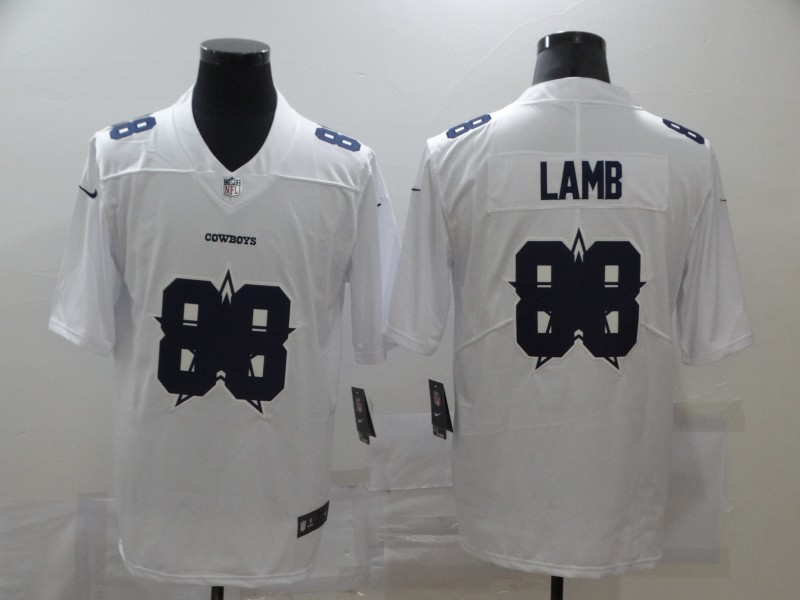 Nike Cowboys 88 Ceedee Lamb White Shadow Logo Limited Jersey