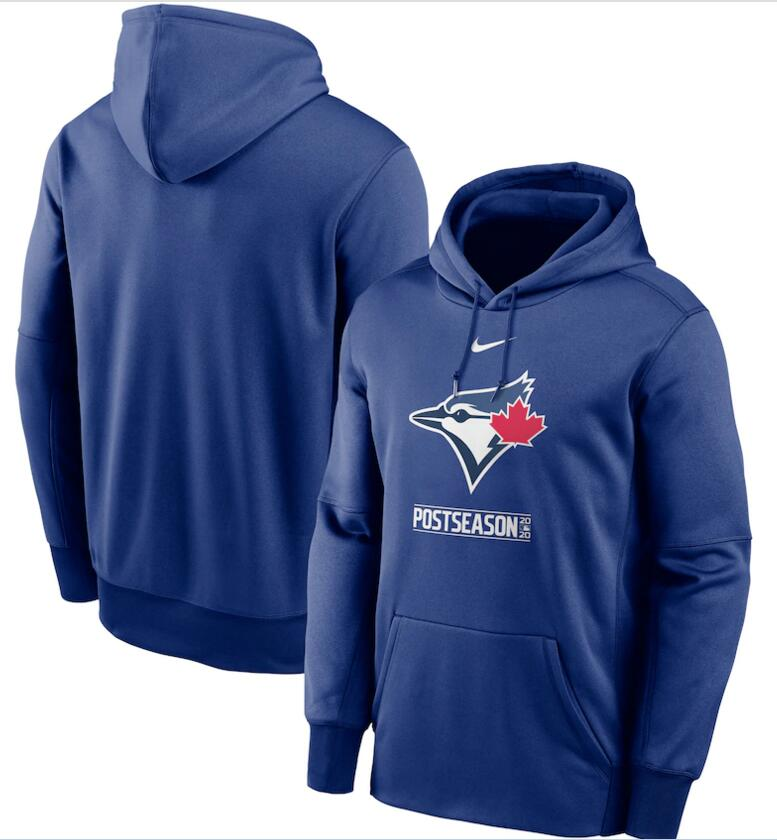 Men's Toronto Blue Jays Nike Royal 2020 Postseason Collection Pullover Hoodie