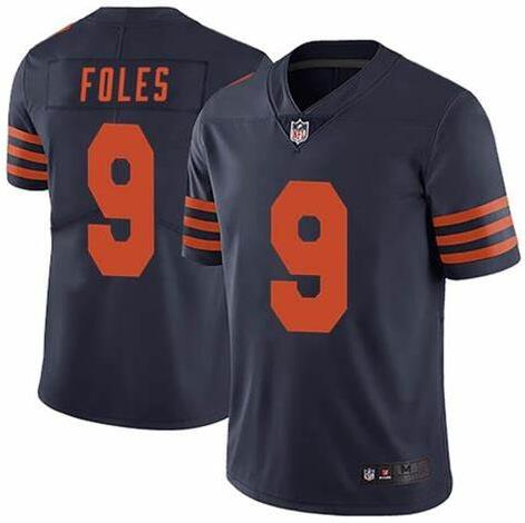 Nike Bears 9 Nick Foles Navy Throwback Vapor Untouchable Limited Jersey