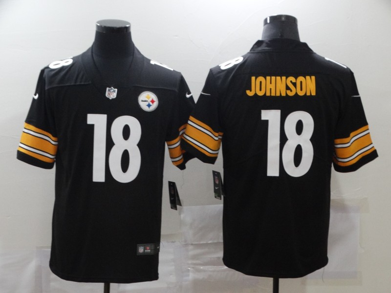 Nike Steelers 18 Diontae Johnson Black Vapor Untouchable Limited Jersey