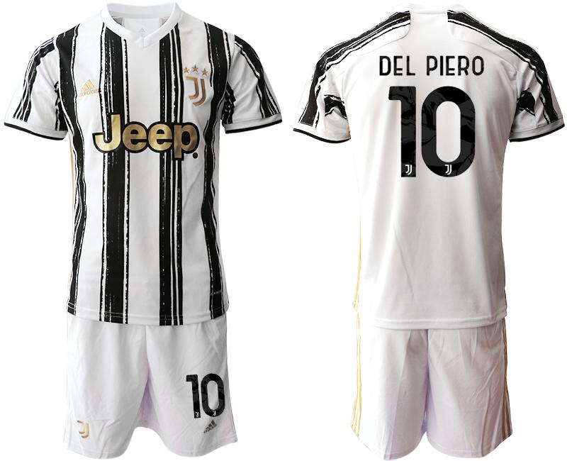 2020-21 Juventus 10 DEL PIERO Home Soccer Jersey