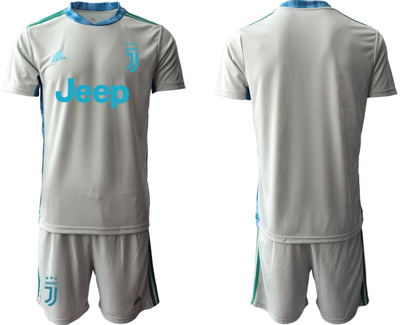 2020-21 Juventus Gray Goalkeeper Soccer Jersey