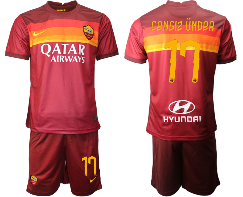 2020-21 Roma 17 CENGIZ UNDER Home Soccer Jersey