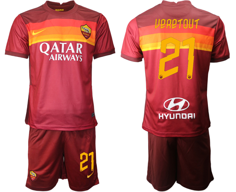 2020-21 Roma 21 UERETOUT Home Soccer Jersey