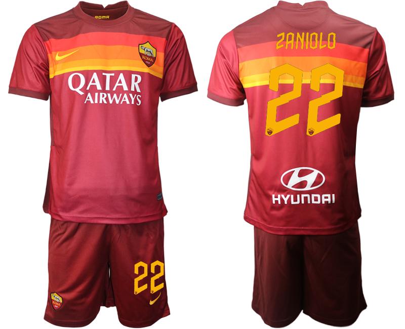 2020-21 Roma 22 ZANIOLO Home Soccer Jersey