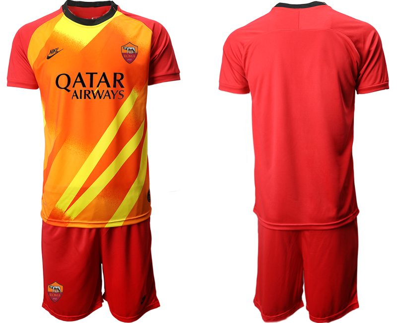 2020-21 Roma Red Goalkeeper Soccer Jersey