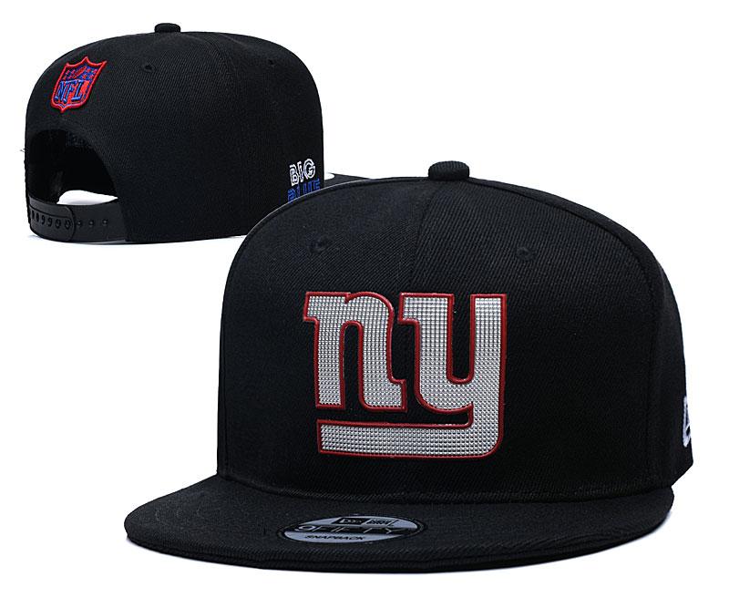 New York Giants Team Logo Black Adjustable Hat YD