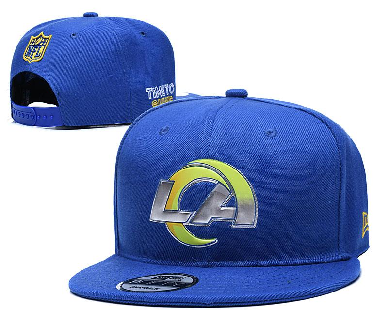 Rams Team Logo Blue Adjustable Hat YD