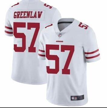 Nike 49ers 57 Dre Greenlaw White Vapor Untouchable Limited Jersey