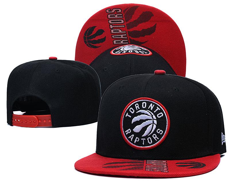 Raptors Team Logo Black Adjustable Hat GS