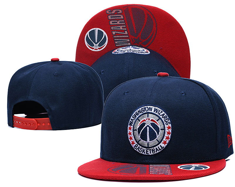 Wizards Team Logo Navy Adjustable Hat GS
