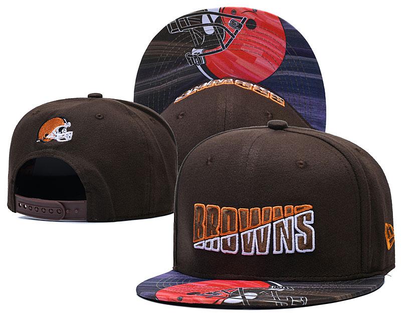 Browns Team Logo Brown 2020 NFL Summer Sideline Adjustable Hat YD