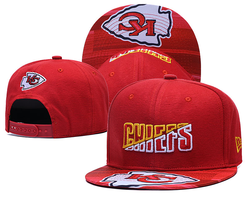 Chiefs Team Logo Red 2020 NFL Summer Sideline Adjustable Hat YD