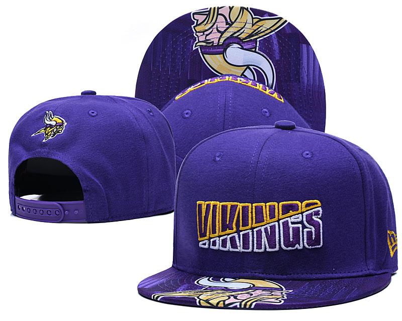 Vikings Team Logo Purple 2020 NFL Summer Sideline Adjustable Hat YD