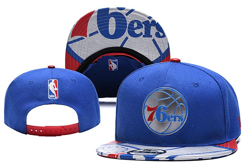 76ers Team Logo Blue Adjustable Hat YD