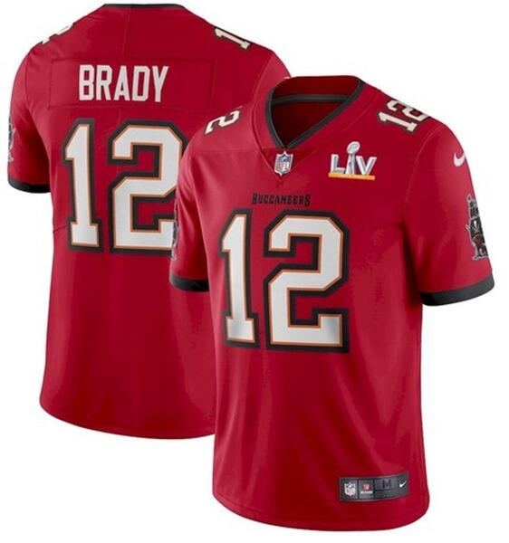Nike Buccaneers 12 Tom Brady Red 2021 Super Bowl LV Vapor Untouchable Limited Jersey