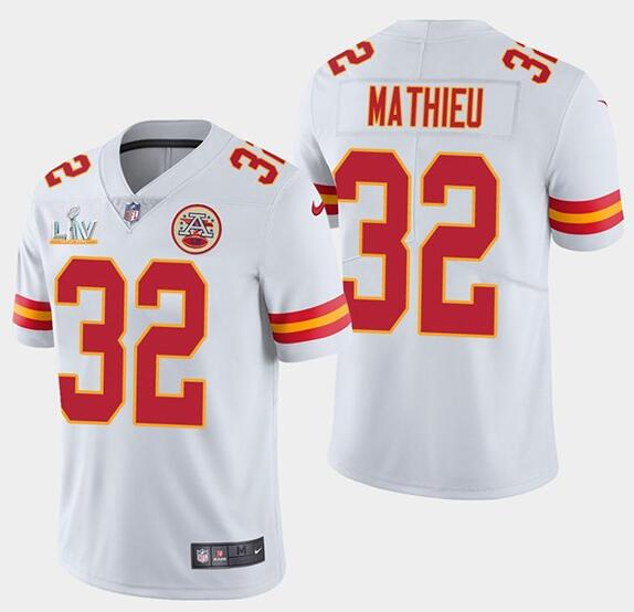Nike Chiefs 32 Tyrann Mathieu White 2021 Super Bowl LV Vapor Untouchable Limited Jersey