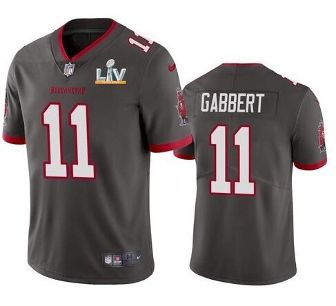 Nike Buccaneers 11 Blaine Gabbert Gray 2021 Super Bowl LV Vapor Untouchable Limited Jersey