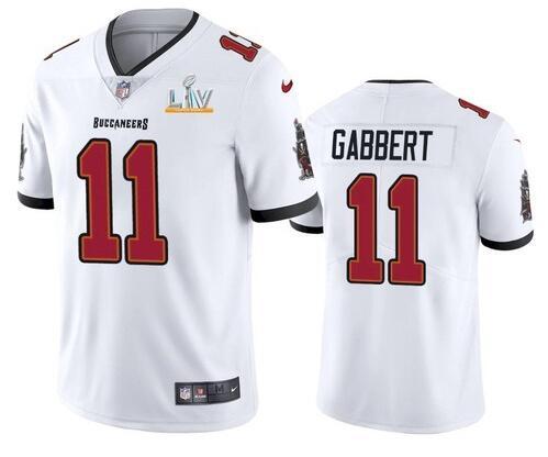 Nike Buccaneers 11 Blaine Gabbert White 2021 Super Bowl LV Vapor Untouchable Limited Jersey