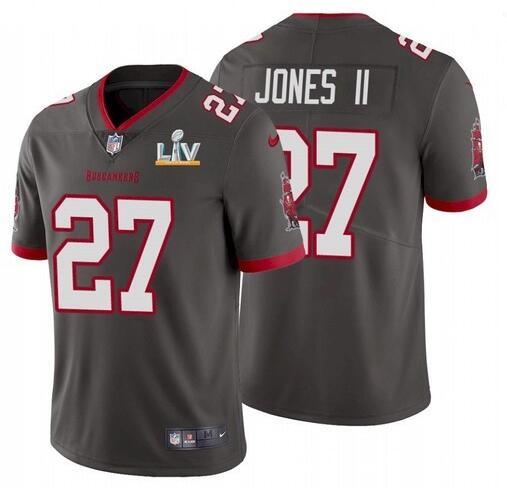 Nike Buccaneers 27 Ronald Jones II Gray 2021 Super Bowl LV Vapor Untouchable Limited Jersey
