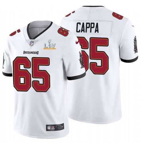 Nike Buccaneers 65 Alex Cappa White 2021 Super Bowl LV Vapor Untouchable Limited Jersey