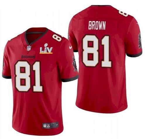 Nike Buccaneers 81 Antonio Brown Red 2021 Super Bowl LV Vapor Untouchable Limited Jersey