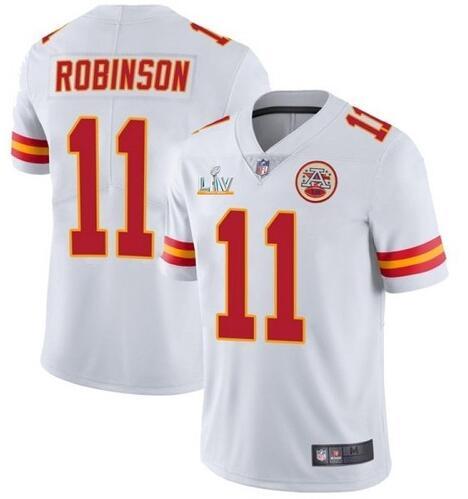 Nike Chiefs 11 Demarcus Robinson White 2021 Super Bowl LV Vapor Untouchable Limited Jersey