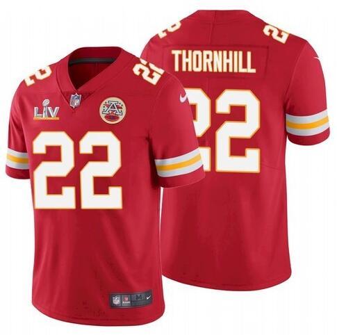 Nike Chiefs 22 Juan Thornhill Red 2021 Super Bowl LV Vapor Untouchable Limited Jersey