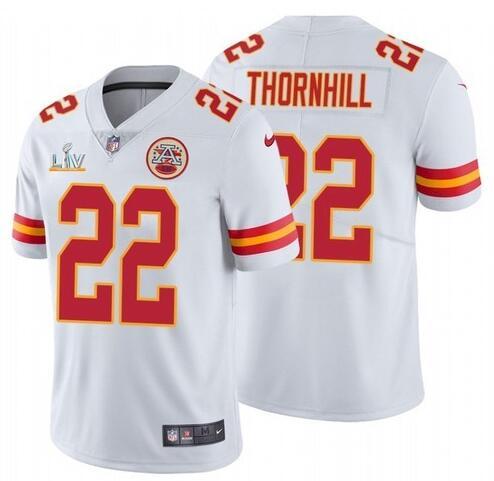 Nike Chiefs 22 Juan Thornhill White 2021 Super Bowl LV Vapor Untouchable Limited Jersey