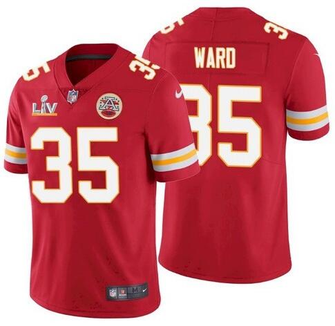 Nike Chiefs 35 Charvarius Ward Red 2021 Super Bowl LV Vapor Untouchable Limited Jersey
